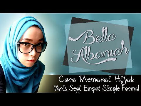 Video Cara Memakai Hijab Segi Empat Simple Formal Terbaru 2016