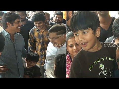 Nagarjuna Making Fun With Allu Arjun Son Allu Ayaan