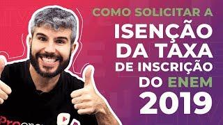   Live   Isenção Da Taxa Do Enem 2019: Como Solicitar?   Prof. Diego Viug