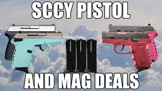 SCCY CPX-1 TTSB 9mm Polymer Frame Pistol, Satin Stainless Slide on Aqua Blue Finish, DAO 10+1 w/ 2 Mags