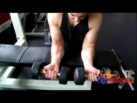 Dumbbell Wrist Curl Over Bench