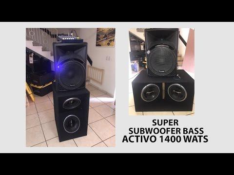 como hacer subwoofer bass activo 1400 wats