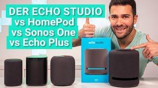 Amazon Echo Studio - So schlägt er sich gegen Apple HomePod, Sonos One und Echo Plus!