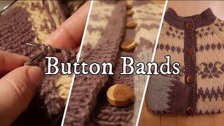 Knitting a Button band