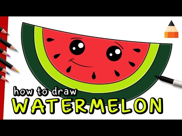How To Draw Watermelon For Kids Learn How To Draw