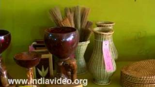 Bamboo decorative in Dilli Haat