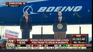 """AWESOME! Boeing Employees Chant """"USA! USA!"""" As Trump Is Introduced in South Carolina"""