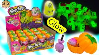 Unboxing Full Box of 30 Shopkins Halloween Glow In The Dark Pumpkin Surprise Blind Bags