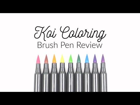 Sakura Koi Coloring Brush Pen Review for Handlettering