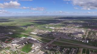 Drone flight old part of Gillette WY