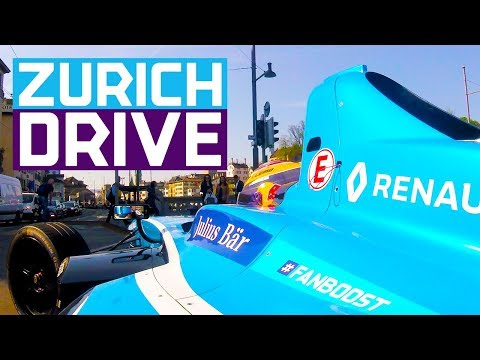 Sebastien Buemi Drives On The Streets Of Zurich | ABB FIA Formula E Championship