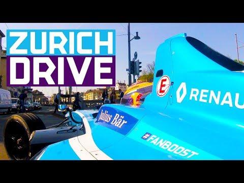 Sebastien Buemi Drives On The Streets Of Zurich | ABB FIA Formula E Championship