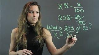 Tutorial On Percentages : High School Math Help