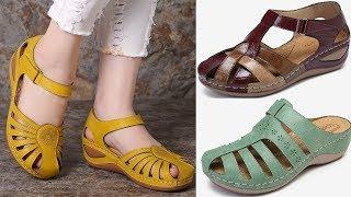 LOSTISY LATEST LEATHER SANDALS FOR WOMEN||LOSTISY Women Hollow Wearable Hook Sandals||#sbleo