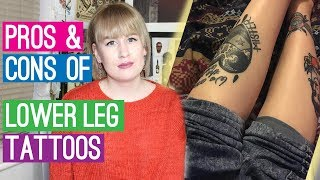 Pros & Cons Of Lower Leg Tattoos