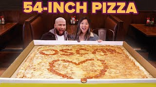 I Surprised My Friend With The World's Largest Pizza • Giant Food Time
