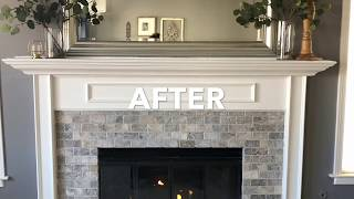 How To Update Fireplace  - Fireplace Makeover Project 🔥
