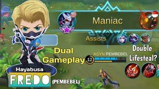 Fredo Hayabusa Maniac : He is so fast | Fredo ft full squad : Dual Gameplay Hayabusa