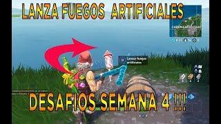 Fortnite Temporada 7 Semana 4 Lanza Fuegos Artificiales 免费在线