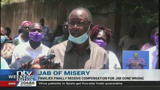 Toxic jab victims get Sh42m - VIDEO