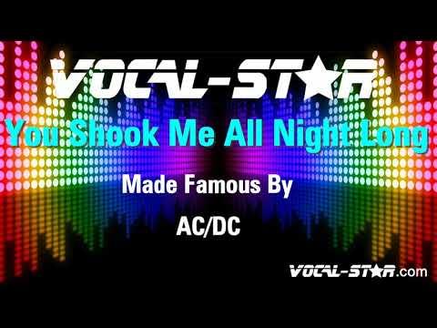ACDC - You Shook Me All Night Long (Karaoke Version) with Lyrics HD Vocal-Star Karaoke