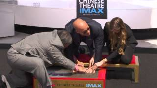 Vin Diesel putting his Hand & Feet in Cement at Chinese Theater Ceremony