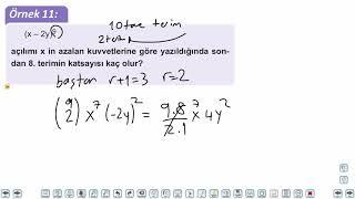 Eğitim Vadisi TYT Matematik 33.Föy Binom Açılımı Konu Anlatım Videoları