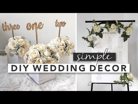 Simple DIY Wedding Decor | Centerpieces, Signs, Party Favours Mp3
