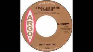 "Ramsey Lewis Trio – ""It Had Better Be Tonight"" (Argo) 1965"
