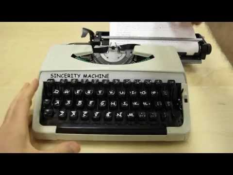 An Artist Perfectly Trolls Designers With A Comic Sans Typewriter
