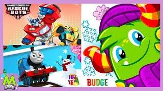 Любимые Герои Мультиков в Игре Budge World.Новые Зимние Приключения в Мире Баджеров