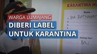 Pemudik yang Pulang Kampung ke Lumajang Diberi Label Karantina Mandiri