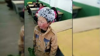 8-year-old comes to school with a frozen head and when the teacher looks closer his heart breaks