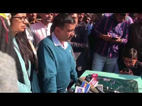 Delhi CM Arvind Kejriwal Briefs Media after meeting DCW Volunteer who was harassed in Public
