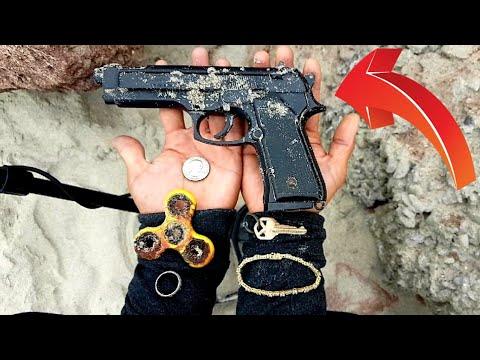 🔴Encuentro  ARMA PERDIDA en la playa CON DETECTOR DE METALES