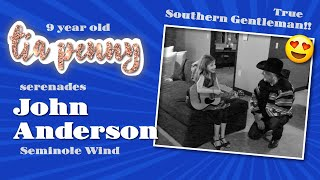 Nine year old serenades Seminole Wind to legendary John Anderson - Entire song