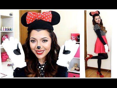 Disfraz y Maquillaje de Minnie Mouse Halloween ♥ beautybynena