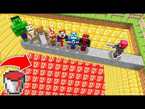ÖLÜRSEN ŞANS BLOĞU HAVUZUNA DÜŞERSİN! ???? - Minecraft