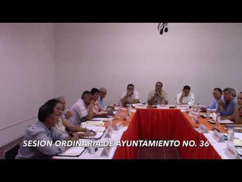 Sesión ordinaria  No. 36 de Ayuntamiento 31 de mayo de 2017