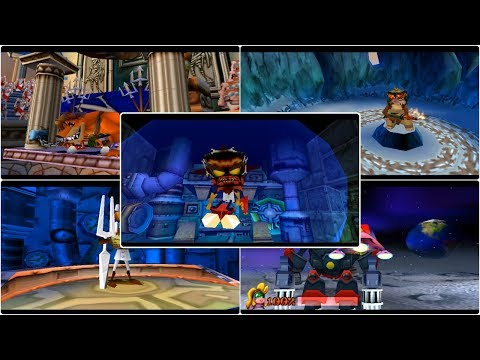 crash-bandicoot-3-warped--all-boss-fight--bosses