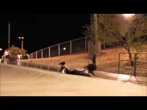Longest Powerslides Skateboarding: David Gravette & Sammy Baca
