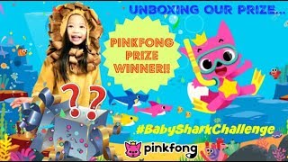 Little LION Unboxing The PINKFONG Contest PRIZE! BabySharkChallenge WINNER!! 😍🎉