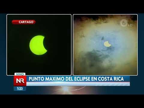 Punto máximo del eclipse en Costa Rica