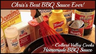 How We Make BBQ Sauce  Tangy Sweet and Heat! Collard Valley Cooks BBQ