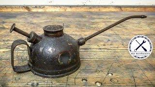 Antique Dented Oiler - Perfect Restoration