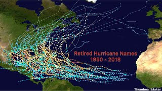 Retired hurricane names: 1950-2018