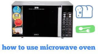 How to use microwave oven in hindi