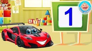 Мультики для детей про машинки - Учим цифры - Вихрь Гоночный Автомобильчик