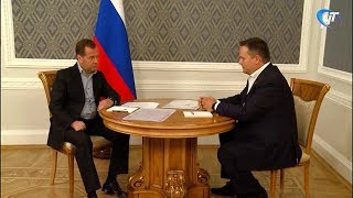 Дмитрий Медведев сообщил губернатору Андрею Никитину долгожданную для новгородцев новость