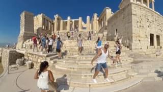 Walking To Acropolis VR 360 in 4K
